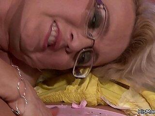 lesbian-licking-mature-older woman-sleeping