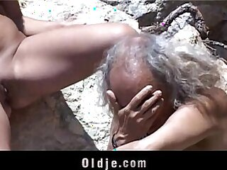 brunette-dick-grandpa-kinky-love-old and young