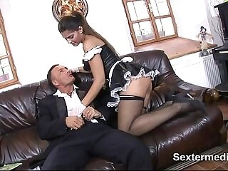 big cock-brother-cock-cum-maid-pussy