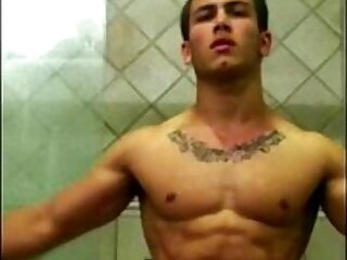 flexible-gay-jerking-muscle-sexy-shower